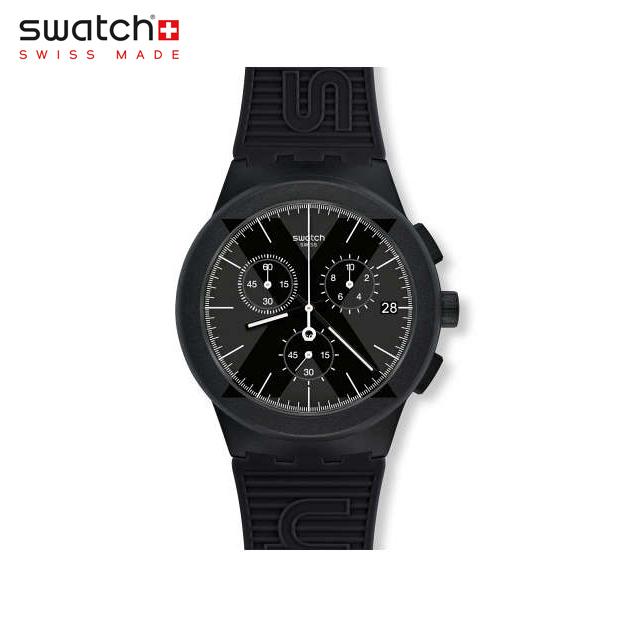 【公式ストア】Swatch スウォッチ X-DISTRICT BLACK エックスディストリクト・ブラック SUSB413Originals(オリジナルズ) New Chrono Plastic(ニュークロノプラスチック) 【送料無料】(素材)ベルト:シリコンメンズ 腕時計 人気 定番 プレゼント
