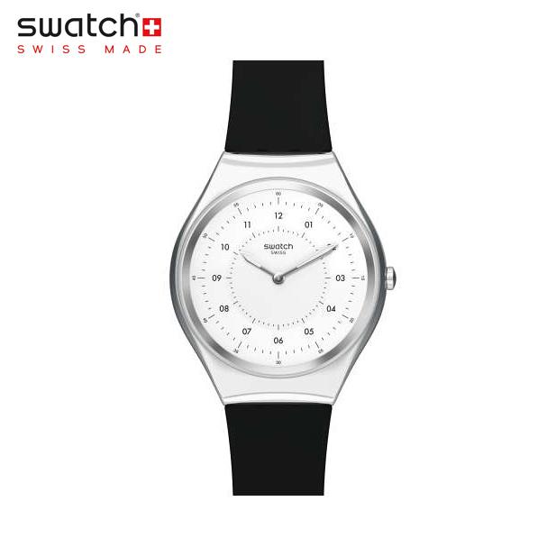【公式ストア】Swatch スウォッチ SKINNOIRIRON スキンノワールアイロン SYXS100SKIN(スキン) SKIN Irony(スキンアイロニー) 【送料無料】(素材)ベルト:シリコン ケース:ステンレススチールメンズ レディース 腕時計 人気 定番 プレゼント