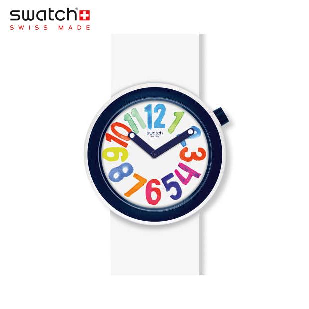 【公式ストア】Swatch スウォッチ POPNUMBER ポップナンバー PNW107Originals(オリジナルズ) POP(ポップ) 【送料無料】(素材)ベルト:シリコン ケース:プラスチックメンズ レディース 腕時計 人気 定番 プレゼント