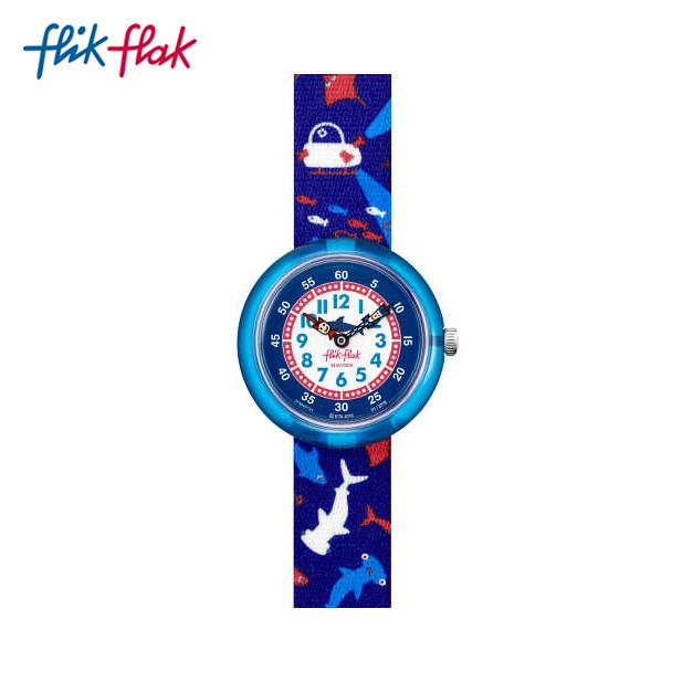 【送料無料】Flik Flak フリックフラック 公式通販 オフィシャルオンラインストア 腕時計 キッズ kids 子ども ボーイズ boys 男の子 ガールズ girls 女の子  【公式ストア】Flik Flak フリックフラック DEEP TRIP ディープ・トリップ FBNP131Swatch(スウォッチ) Story Time(ストーリー・タイム) 【送料無料】(素材)ベルト:繊維