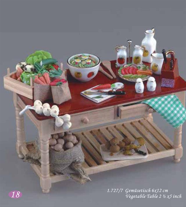 ミニチュア 【ロイターポーセリン】 ベジタブルテーブル RP1727-7 ドールハウス用