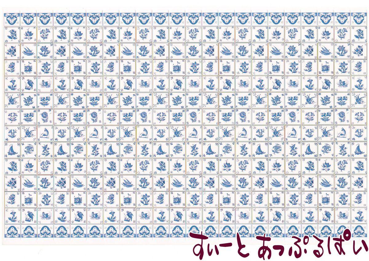 ドールハウス 1 12 ドールハウス用壁紙 ミニチュア スペイン製 ドールハウス用タイルシート
