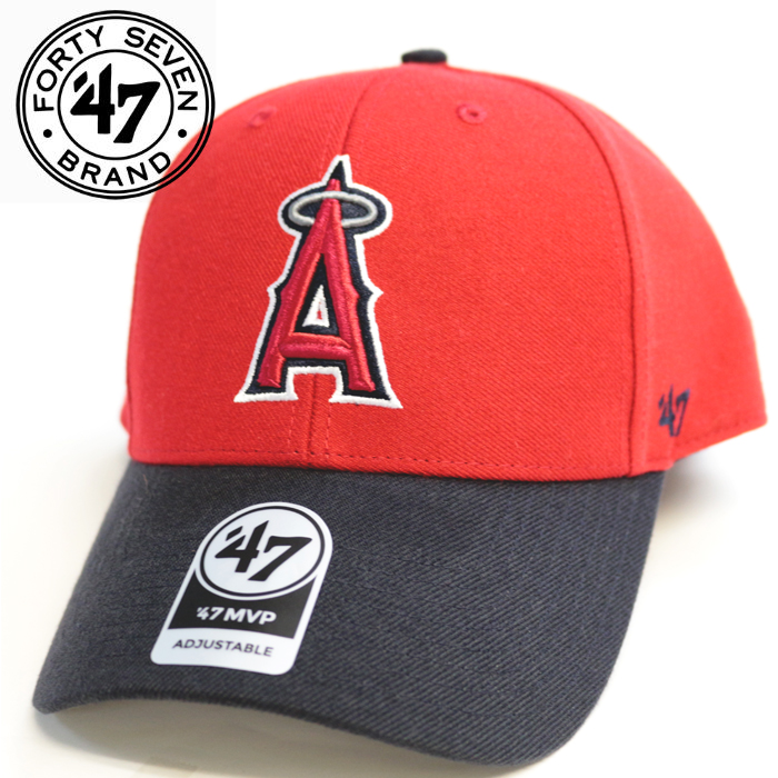 hot sale online 2d82c 446b6 Cap CAP angels 47 MVP red X navy Angels Los Angeles Angels LAA baseball men  ...