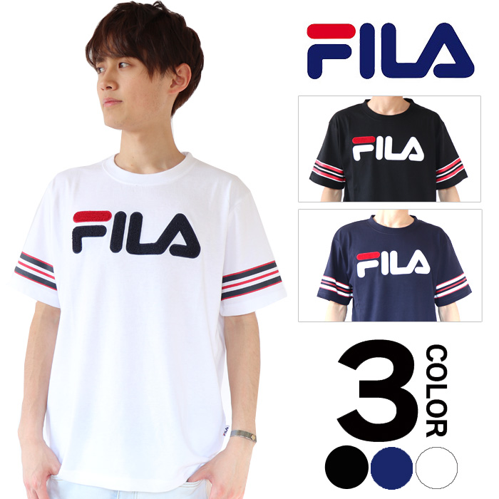 9391bdbcff Short-sleeved Tee of the design more basic than well-established sportswear  brand FILA spreading out more than 100 years comes up.