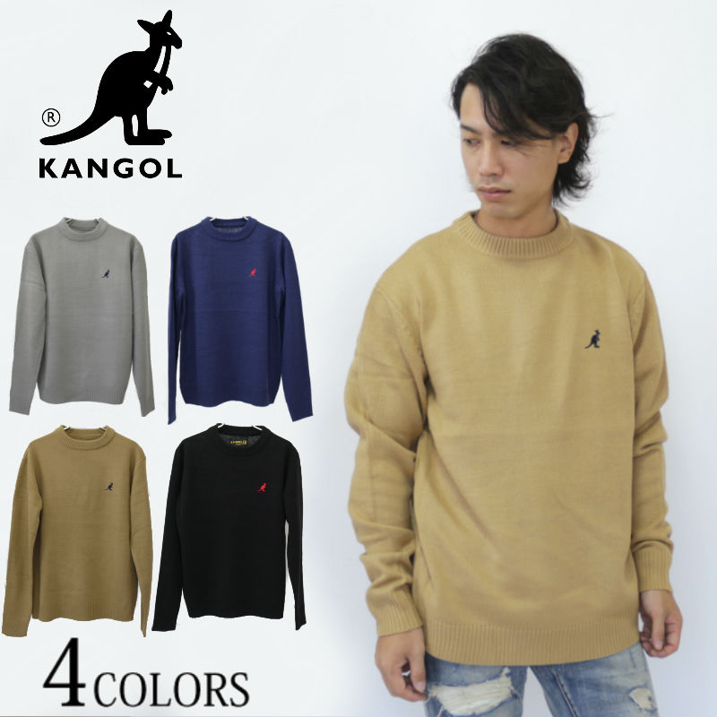 XL, Kangol New Crew Neck Long Sleeve Jumpers For Men L M