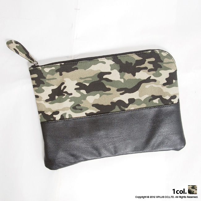 A Recommended Camouflage Pattern Clutch Bag Ears For The Accent Of Coordinates Even Simple Clothes Only Have This To Stylish Senior