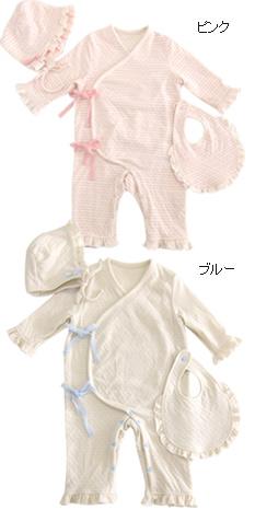 含UNOUNO Honey Angel礼物安排有机棉布100%接結纱布边缘婴儿覆盖物全部发动机罩泰国3分安排礼品盒的《婴儿/婴儿/连裤工作服/日本制造/婴儿装/神田Uno》