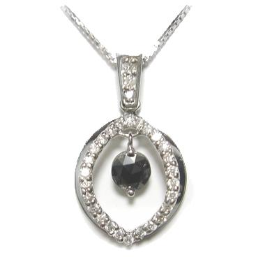 【予約】【ローズカット】計0.44ctブラックダイヤモンドネックレス