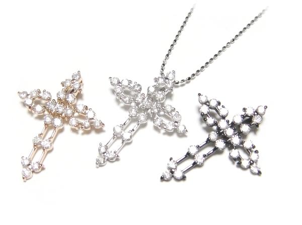 【特価】超キラキラ輝く!クロス計0.50ctダイヤペンダントトップ【ポイアプ】