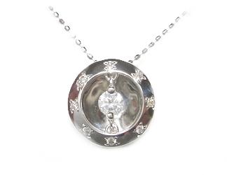 【予約】【ユラメキ】伝説の輝き鏡面○形計0.21ctダイヤモンドネックレス