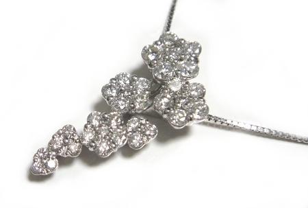【予約】ベストフラワー計1.57ctダイヤモンドネックレス