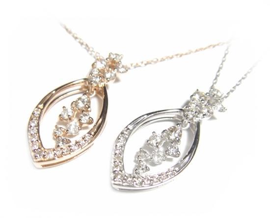 【予約】ツユの中の揺れ動く輝き計0.50ダイヤモンドネックレス