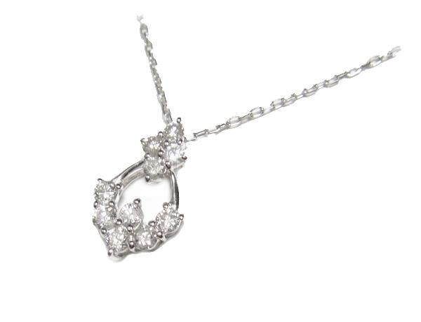 【予約】【ジュエリーベストドレッサー】10石計0.30ctダイヤモンドネックレス