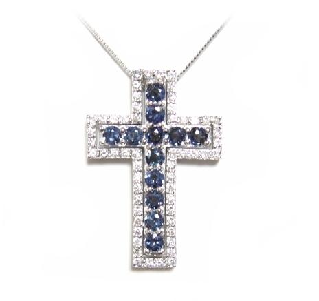 【予約】【3WAY】最高級十字架!計1.23ctアレキサンドライトネックレス