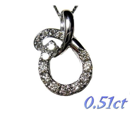 【限定】デザイン10石+5石Pt0.51ctダイヤモンドネックレス