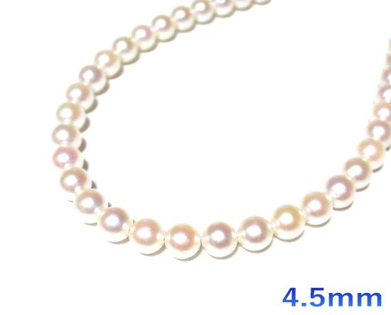 【限定2個】貴重な細身!照りアリベビーパールアコヤ本真珠K18YG約3.5mm/4.5mmパールネックレス【6月の誕生石】【あこや真珠,和珠,本真珠】