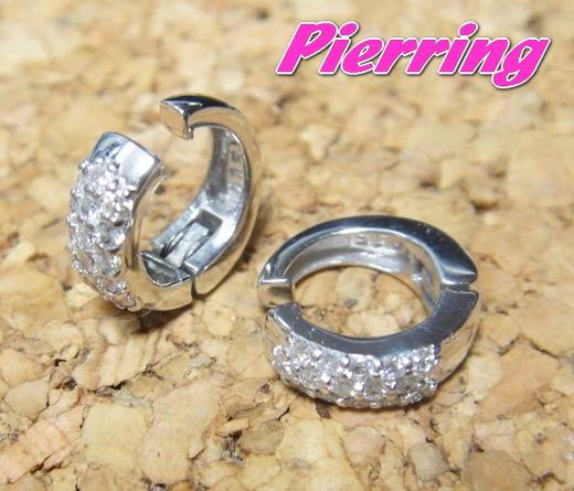 【予約】【ランキング5位】【耳が痛くないピアリング】定番デザインのパヴェイヤリングK18計0.30ctダイヤモンドイヤリング【デイリー,イヤリング-ホワイトゴールド】