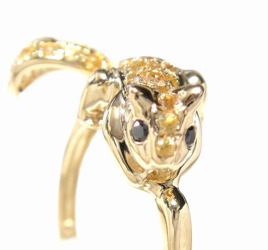 【予約】【ランキング1位】アートアニマル指に懐くミニリス!パヴェリス計0.30ctUPダイヤモンドリング【デイリー,リング-ゴールド】