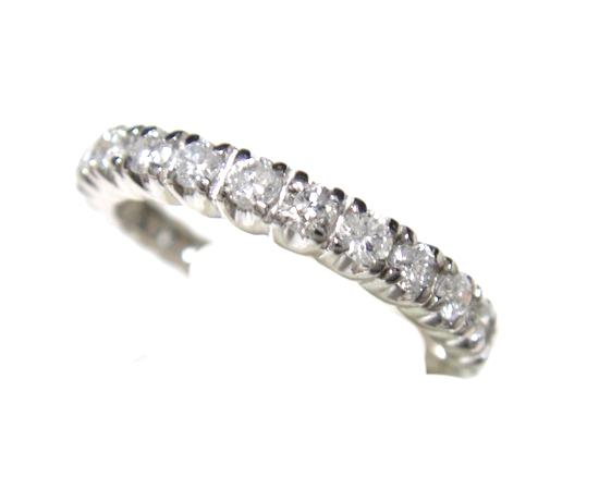 【限定】永遠の輝きエタニティー19石Pt計0.50ctダイヤモンドリング