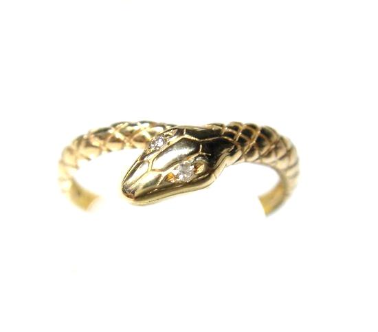 【予約】さりげないおしゃれ&アレンジ!スネーク石計0.01ctダイヤモンドリング【蛇,ヘビ,へび,ペアリング】【R】