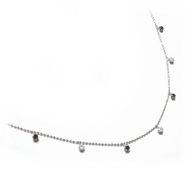 【予約】ブラック&ホワイトコンビ計0.30ctブラックダイヤモンド&ダイヤネックレス
