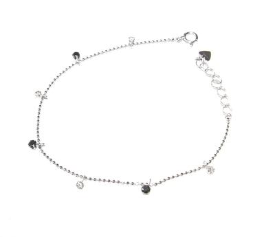 【予約】定番コントラスト計0.45ctブラックダイヤ&ダイヤモンドブレスレット【送料無料】