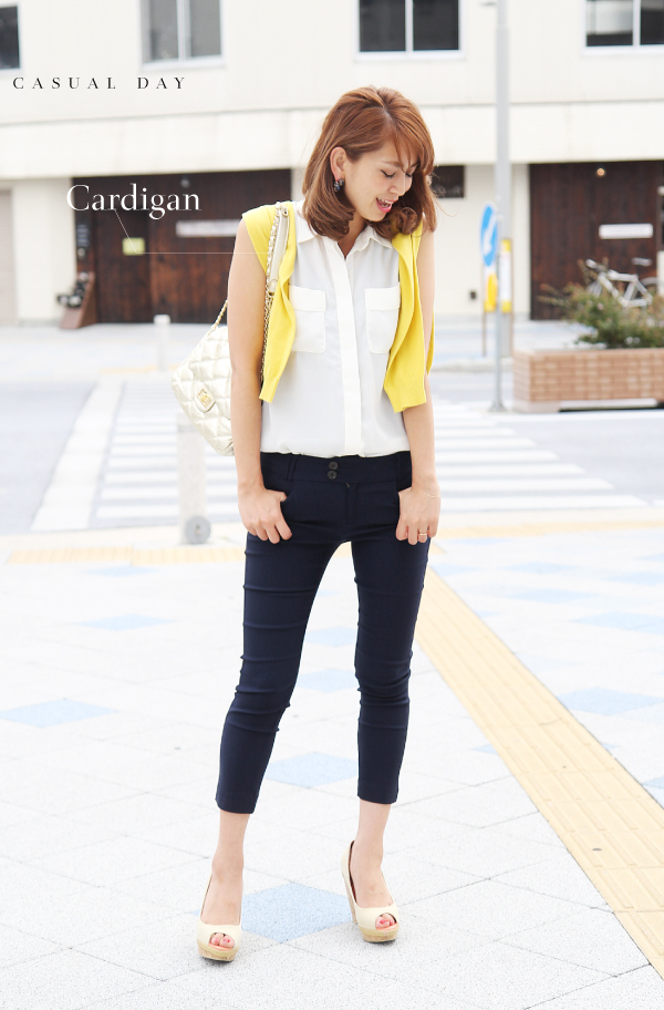 Cropped pants Womens stretch effortlessly clean their legs women's Sweet &Sheep original bottoms ◆ stretch solid color pants