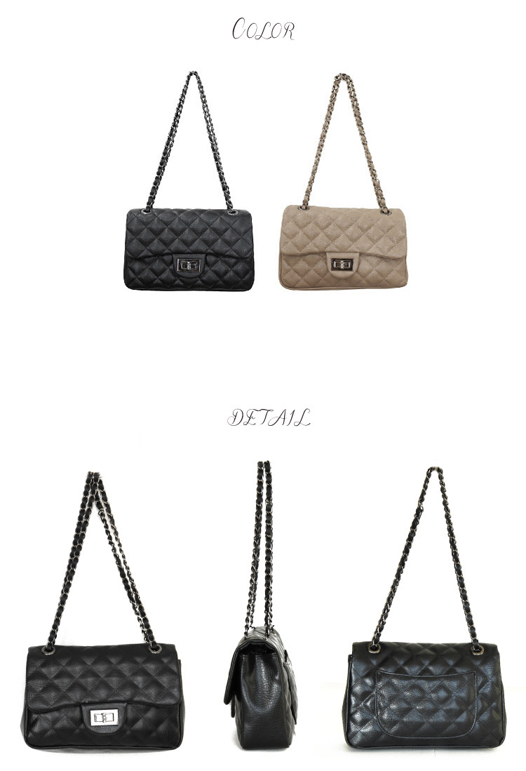 ★ resale ☆ Gisele posted ☆ Sweet &Sheep quilted chain back black beige 2 color re re re re stock
