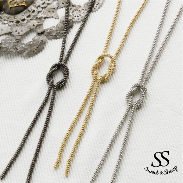 Again resell ☆ SALE ☆ Sweet &Sheep long necklace ★ 3 color ★ Rakuten ranking accessories chain Department won the first place ♪ twist tie