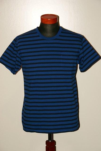代引手数料・送料無料 Pherrow's(フェローズ) ボーダー Tシャツ 17S-PBPT2 AFブルー×ブラック