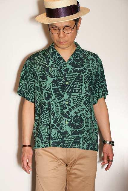 代引手数料・送料無料 STAR OF HOLLYWOOD (スターオブハリウッド) 半袖オープンシャツ SH37595