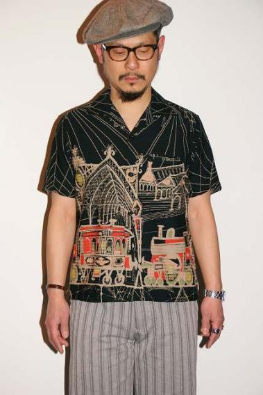 代引手数料・送料無料 STAR OF HOLLYWOOD (スターオブハリウッド) 半袖オープンシャツ SH37885