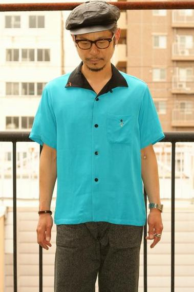 King Louie (キングルイ) レーヨンボウリングシャツ COLLAR KL38136
