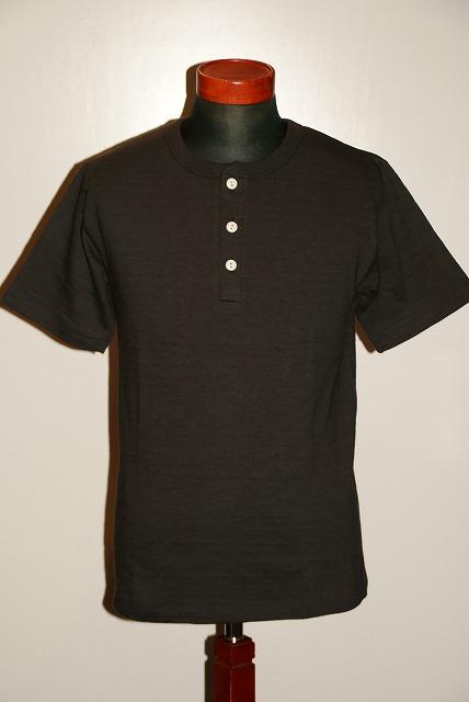 代引手数料・送料無料 WARE HOUSE (ウエアハウス) ヘンリーネック・Tシャツ 4601 スミクロ