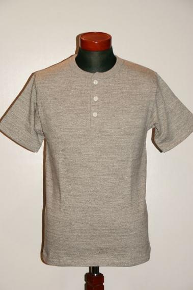 代引手数料・送料無料 WARE HOUSE (ウエアハウス) ヘンリーネック・Tシャツ 4601 杢グレー