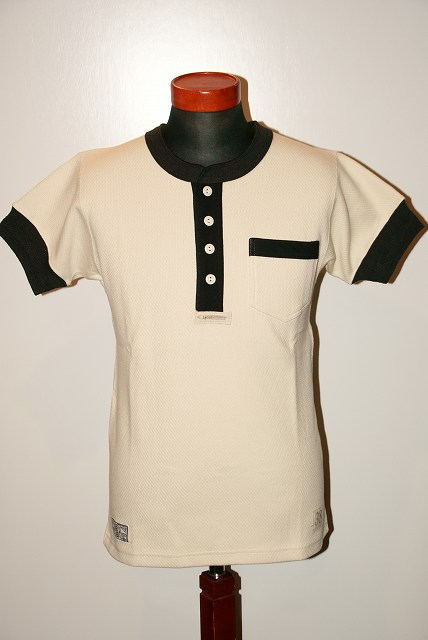 代引手数料・送料無料 Dapper's (ダッパーズ) Dapper's ヘンリーネック 1172・半袖メッシュTシャツ 1172 オフホワイト×チャコール, オフィストレンド:d25c64cd --- sunward.msk.ru