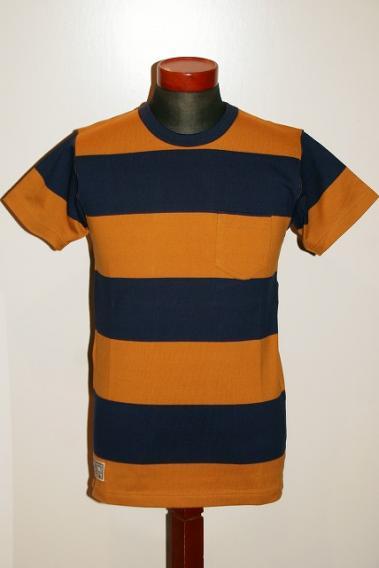 Dapper's (ダッパーズ) クルーネック・半袖ボーダーTシャツ 1318