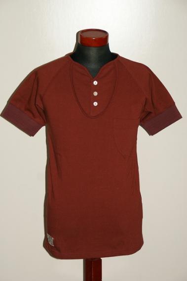 Dapper's (ダッパーズ) ヘンリーネック・半袖Tシャツ 1324