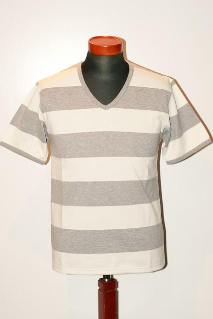 代引手数料・送料無料 JELADO (ジェラード) Vネック・ボーダーTシャツ AG11218