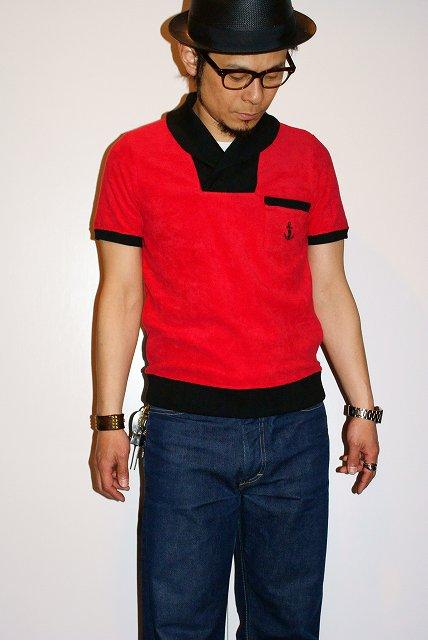 代引手数料・送料無料 ADJUSTABLE COSTUME COSTUME (アジャスタブルコスチューム) パイル2トーン・ショールカラーシャツ ACS-016 ポロシャツ レッド ADJUSTABLE ポロシャツ, タカシマヤ:2c15a48e --- sunward.msk.ru