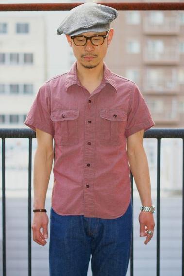 DELUXEWARE (デラックスウエア) 半袖ワークシャツ RDDX-02S