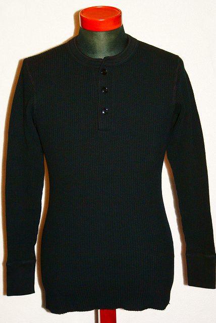 【代引手数料・送料無料】 JELADO (ジェラード) ヘンリーネック・メガサーマル長袖Tシャツ (ブラック) AB04208 (5MT-2047) ロンT