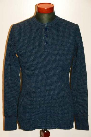JELADO (ジェラード) ヘンリーネック・メガサーマル長袖Tシャツ AB94221ID インディゴ