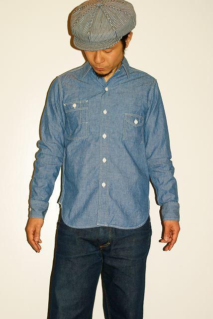 代引手数料・送料無料 JELADO (ジェラード) シャンブレー・ワークシャツ JP94102 インディゴ