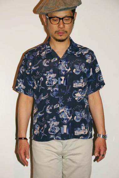 代引手数料・送料無料 MISTER FREEDOM (ミスターフリーダム) × SUN SURF (サンサーフ) 半袖レーヨンシャツ SC37842 Rock'n'Roll Shirt