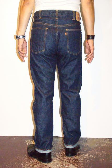 """货到付款手续费、TCB(球座海B)  细长的牛仔裤""""TCB Orange""""靛蓝·一洗涤"""