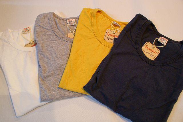 代引手数料・送料無料 UES (ウエス) Uネック無地Tシャツ 651216 オフ・杢グレー・イエロー・ブラック