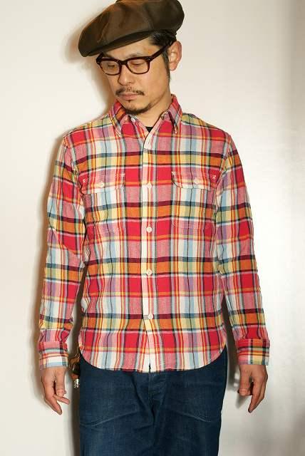 代引手数料・送料無料 UES (ウエス) 追撚チェックシャツ 501601 ピンク