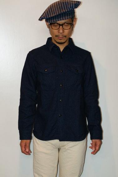UES (ウエス) エクストラヘビーネルシャツ 501953 インディゴ