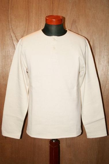 代引手数料・送料無料 Cotton WORKERS (ワーカーズ) ヘンリーネック (ワーカーズ) ホワイト・カットソー